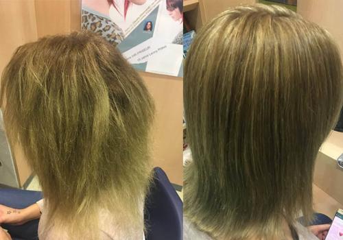 Schöne Haare ohne Grünstich – für Andrea Florian kein Problem.