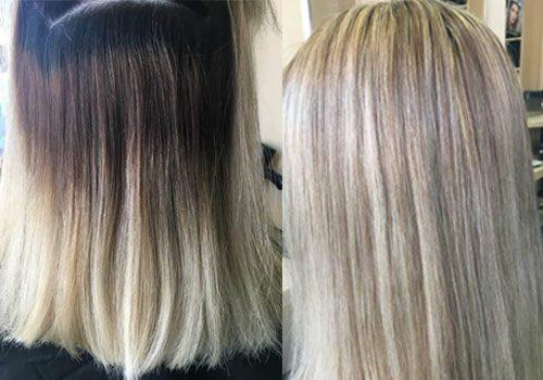 Ein schönes blond ohne Kanten